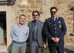 Il Comandante Adinolfi con Bacheca e Calvo