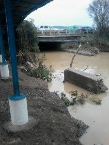 il fosso danneggiato