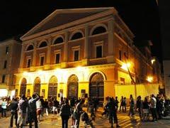 Il teatro Traiano di Civitavecchia.