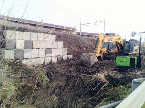 intervento scarpata ferrovia