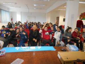 Unicef con  alunni  Media Carducci
