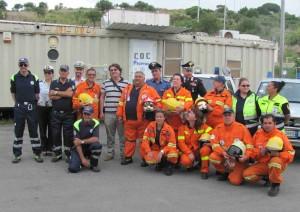 i volontari della protezione civile