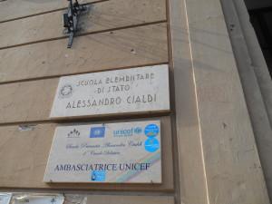 TARGA  CIALDi  SC. AMBASCIATRICE -