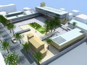 Uno dei rendering della piazza che sorgerà a Santa Marinella