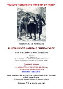 Locandina Manifestazione Pyrgi 14 novembre