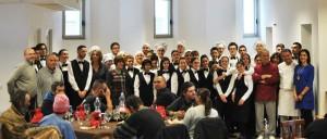 Foto del pranzo di solidarietà.
