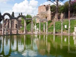 Una foto di Villa Adriana a Tivoli.