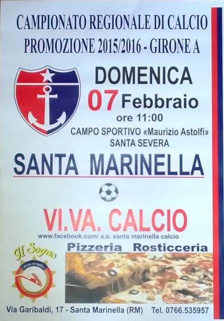 Domenica mattina  Santa Marinella- Vi. Va. Calcio