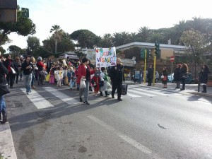 La foto della sfilata.