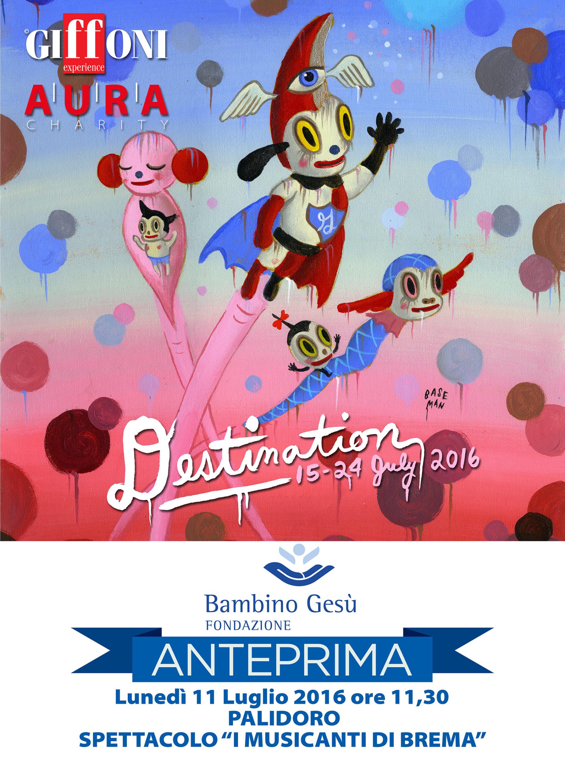Anteprima ufficiale 46esima edizione del Giffoni FIlm Festival al Bambino Gesù di Roma