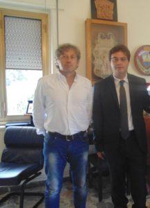 Il Sindaco Roberto Bacheca ed l'ex Vice Sindaco Carlo Pisacane