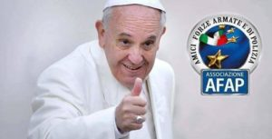 La foto di papa Bergoglio.
