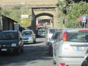 Foto del sottopasso di via delle Vignacce allo stato attuale.