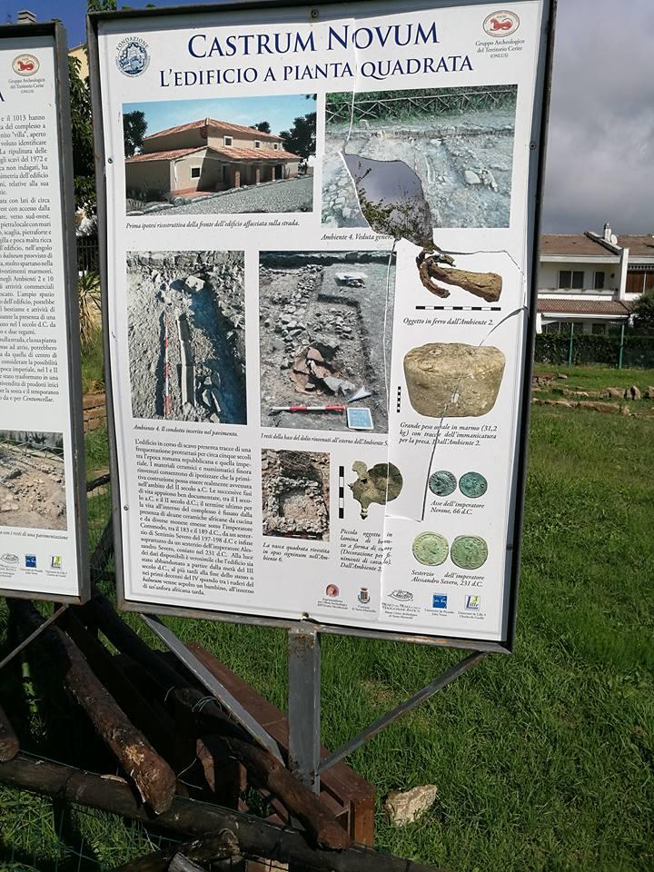 Santa Marinella: atti vandalici nel parco archeologico di Castrum Novum