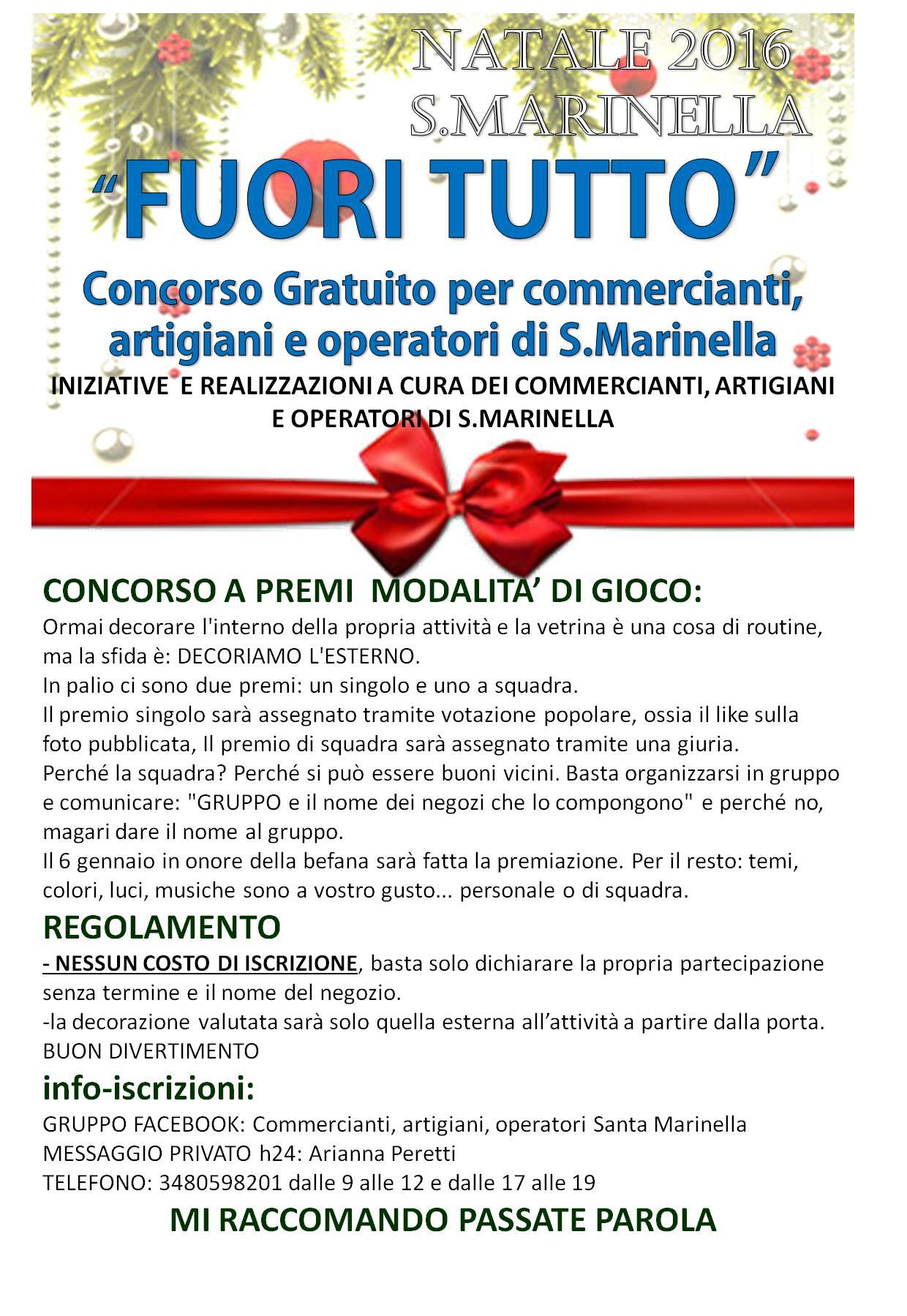 """Santa Marinella: """"Fuori Tutto"""" un concorso gratuito per i commercianti"""