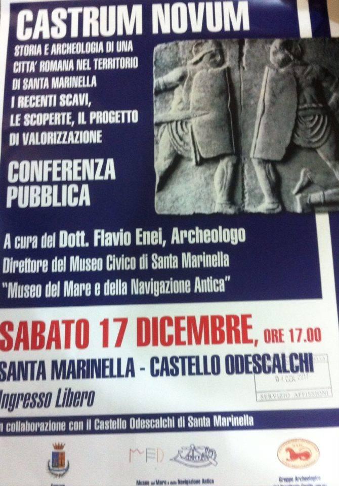 """""""Castrum Novum"""" sabato presso il Castello Odescalchi"""