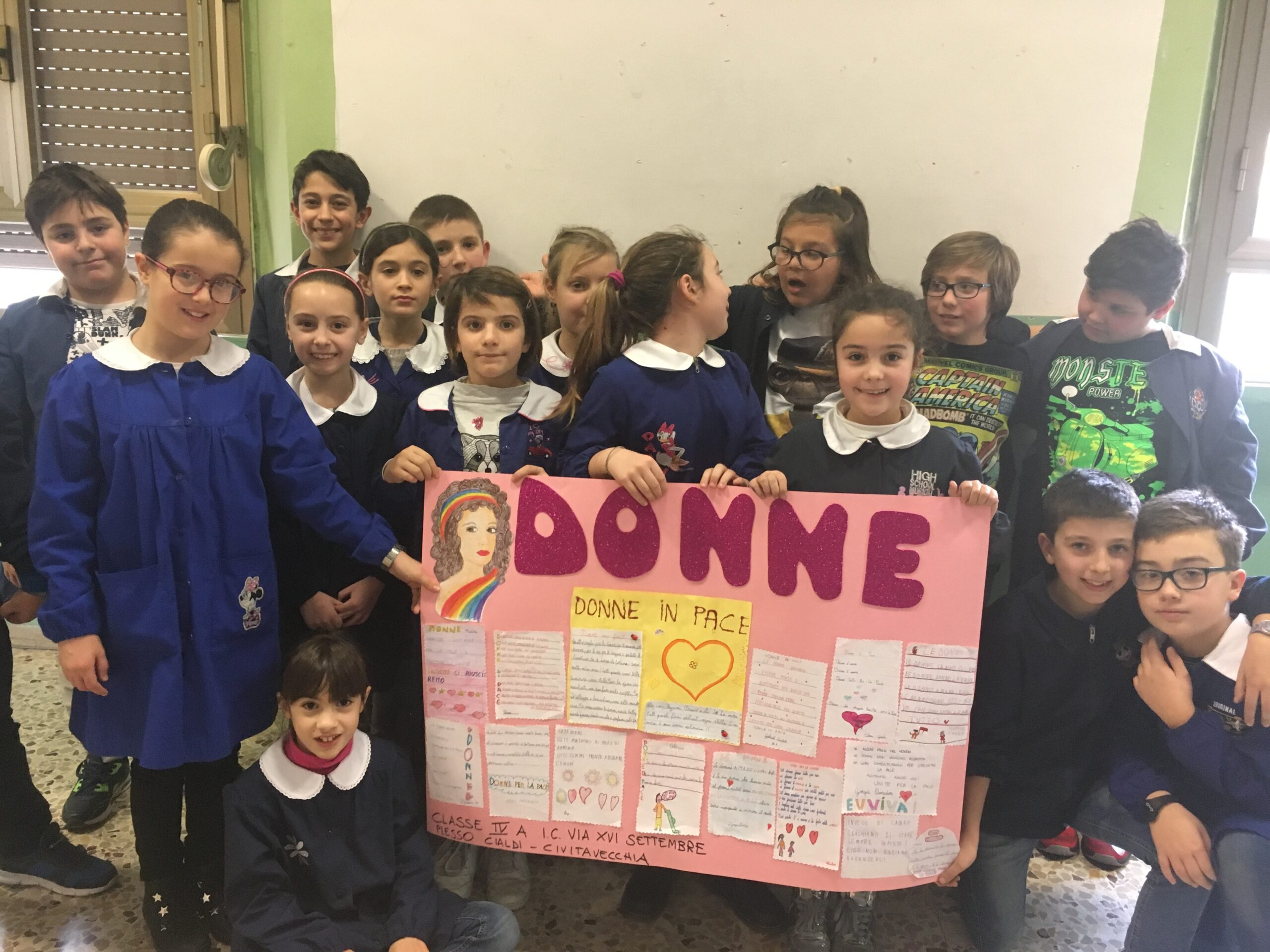 """Unicef: gli alunni della Cialdi partecipano al concorso """"Donne per la pace""""."""