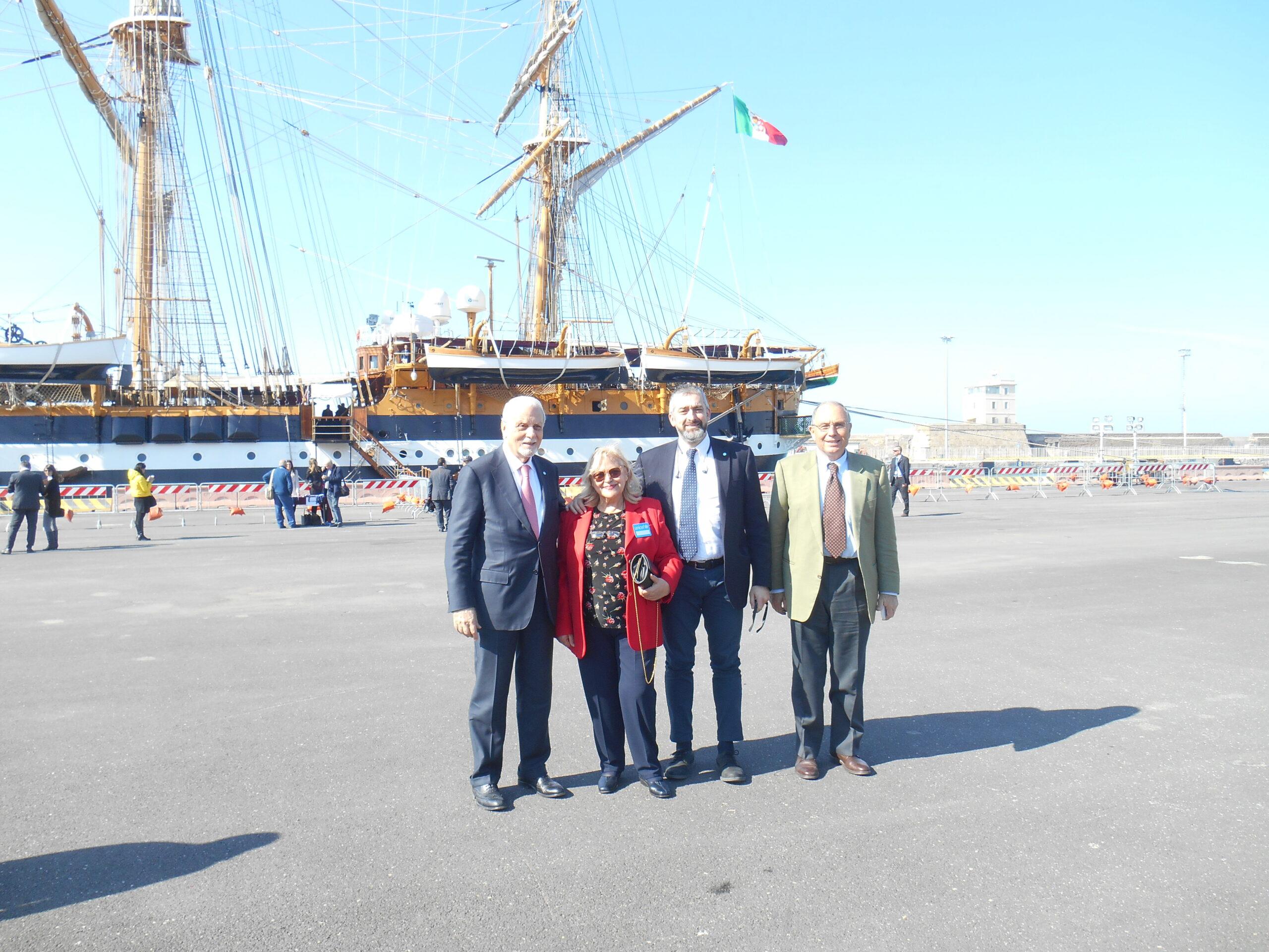 Unicef Italia ospite a bordo della nave scuola Amerigo Vespucci