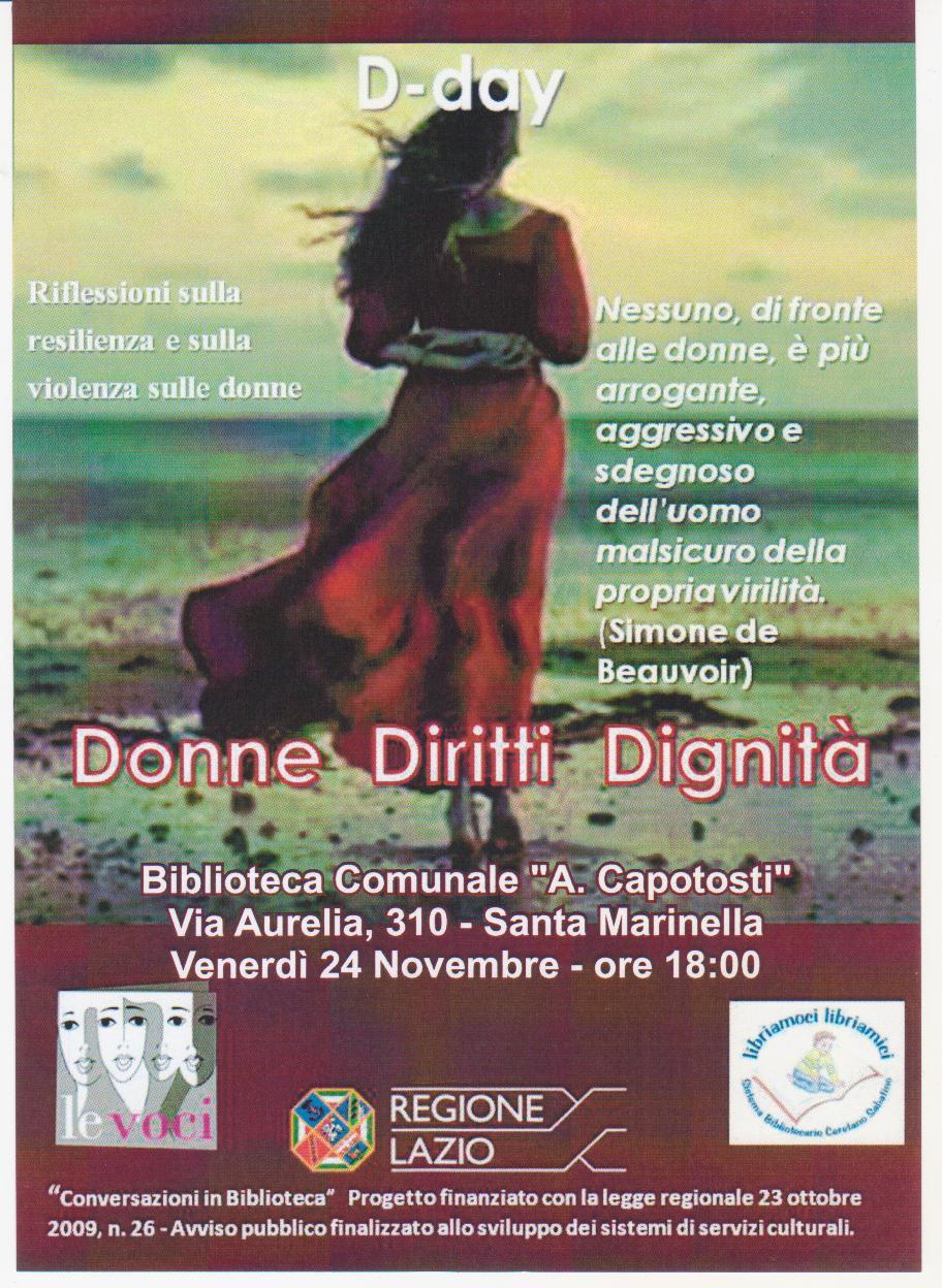 D-Day: le donne, i loro diritti e la loro dignità in un reading in biblioteca