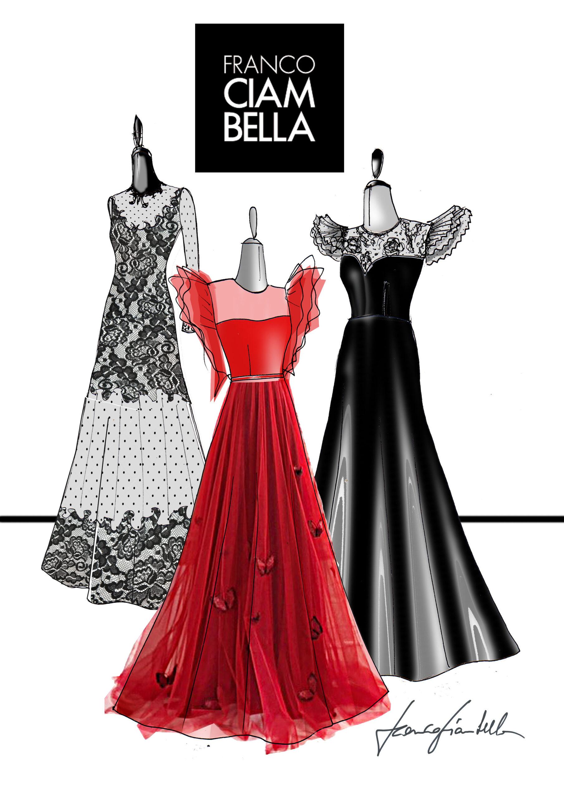 """Diana Del Bufalo ha scelto gli abiti da sogno di Franco Ciambella per """"Panariello sotto l'albero"""""""
