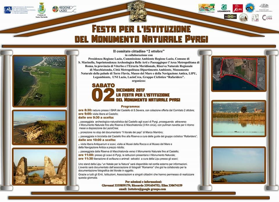 Pyrgi monumento naturale: traguardo importante per la città