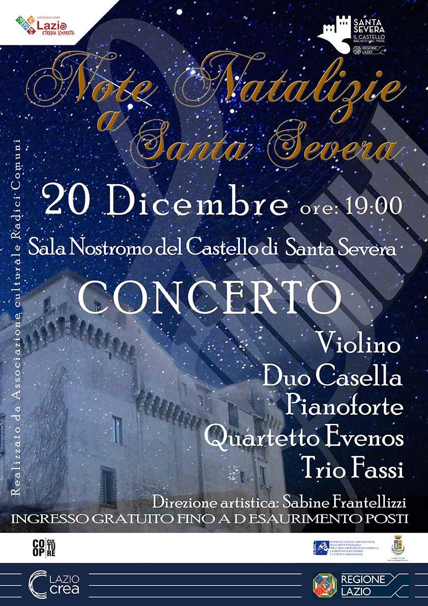 """Il concerto gratuito  """"Note natalizie"""" al Castello di Santa Severa"""