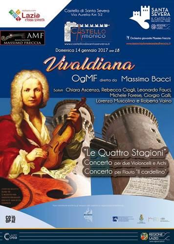 """Castello di Santa Severa: domenica 14 gennaio il concerto """"Vivaldiana"""""""