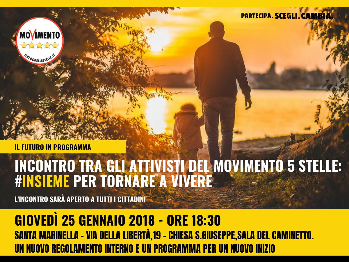 """M5S Santa Marinella: """"Oggi l'incontro con i cittadini"""""""