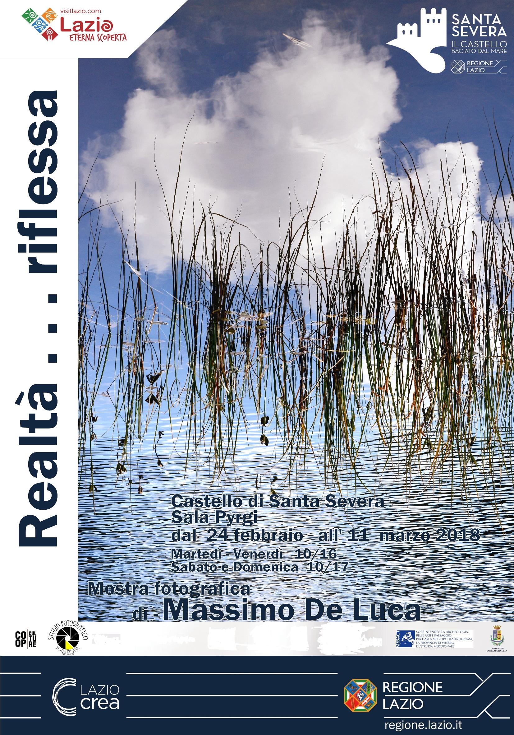 """Castello di Santa Severa: inaugurazione dellamostra fotografica """"Realtà…riflessa"""""""