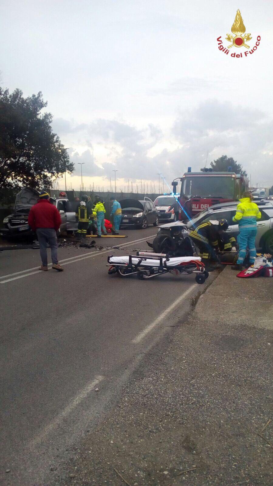 Incidente stradale sull'Aurelia.Tre auto coinvolte