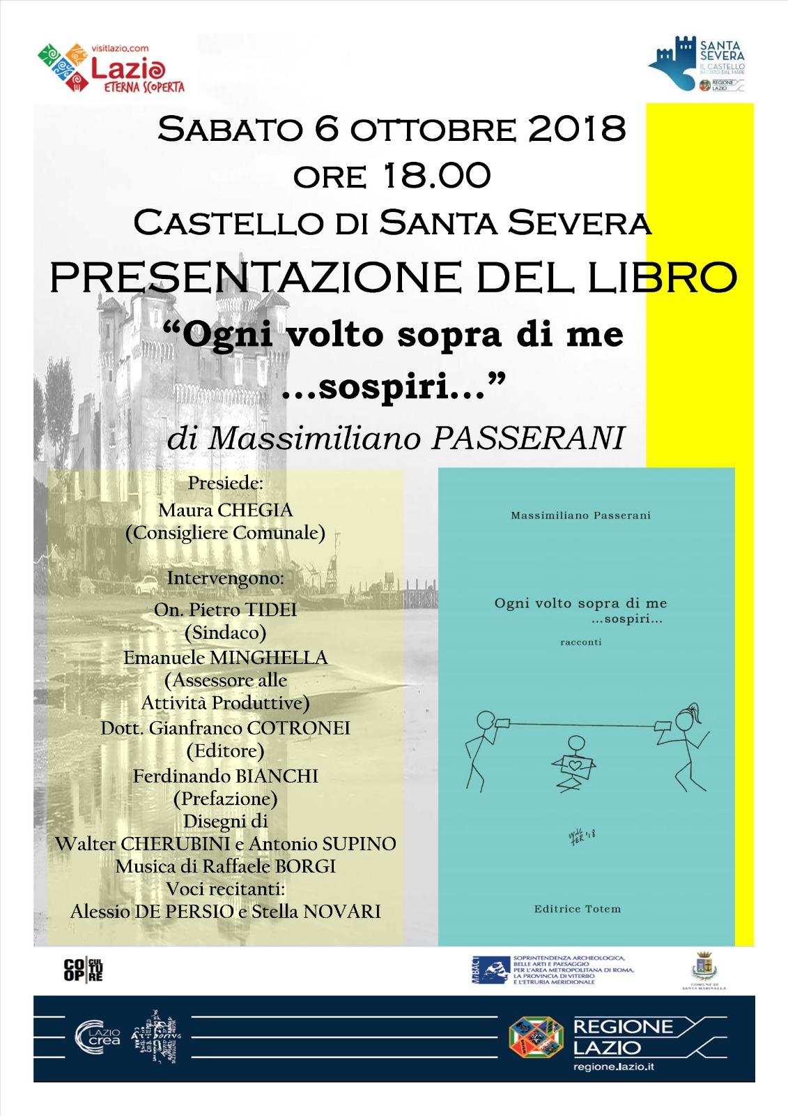 """""""Ogni volto sopra di me … sospiri"""" la raccolta dello scrittore Passerani in scena al Castello di Santa Severa"""