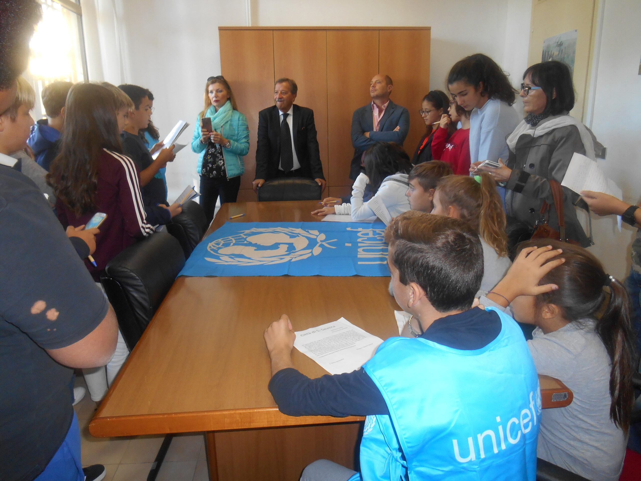Unicef Santa Marinella: incontro tra gli studenti ed il Sindaco Tidei