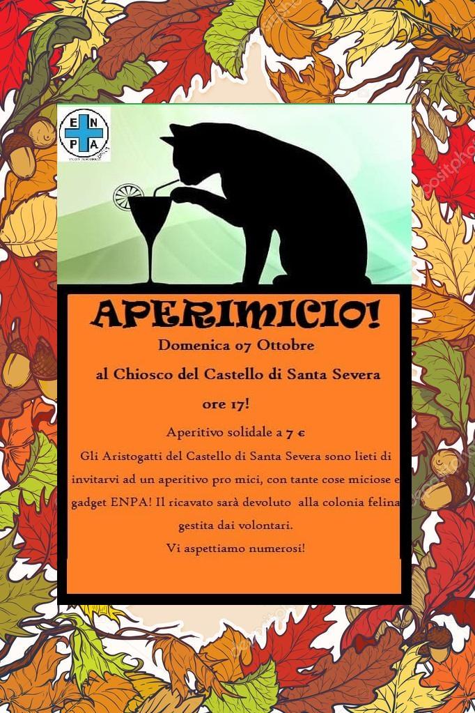 ENPA S. Marinella: Il 7 ottobre dalle 17:00 aperimicio solidale al Castello in occasione della giornata degli animali