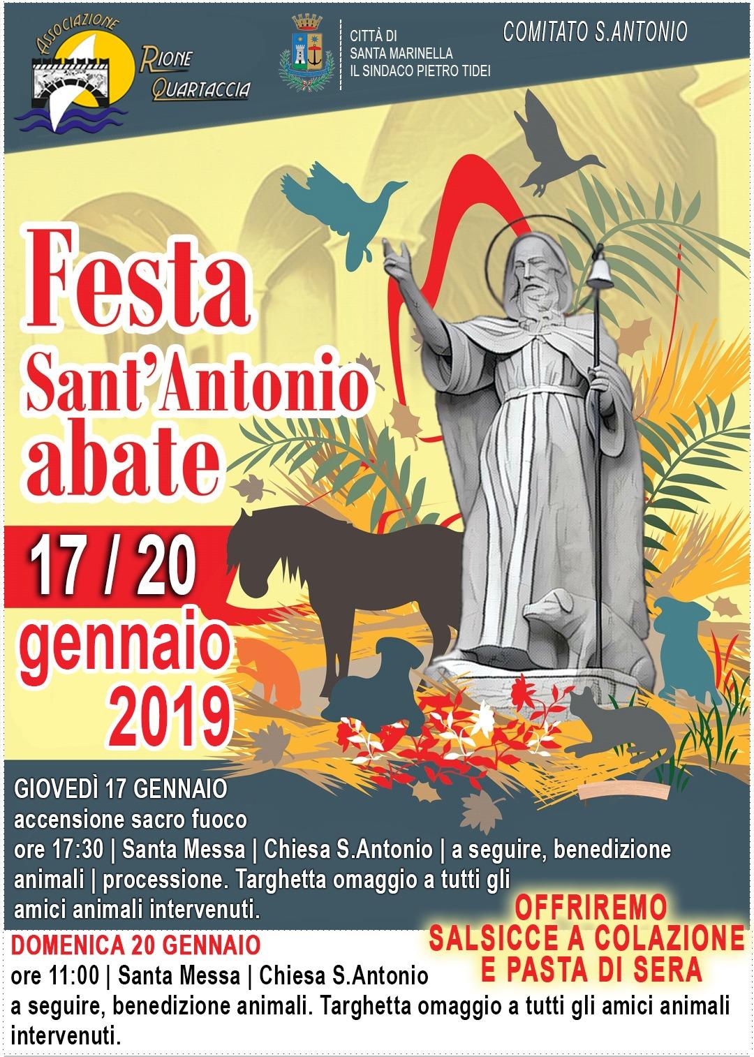 Festa di Sant'Antonio Abate: Comitato, Rione Quartaccia e Comune pronti per la benedizione degli animali.