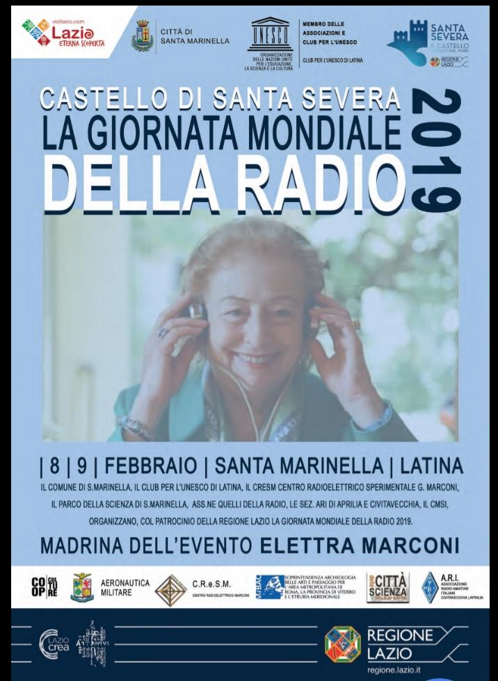 Parco della Scienza G.Marconi e Città di Santa Marinella nel programma Unesco. Dal 8 al 10 Febbraio giornata mondiale della radio.