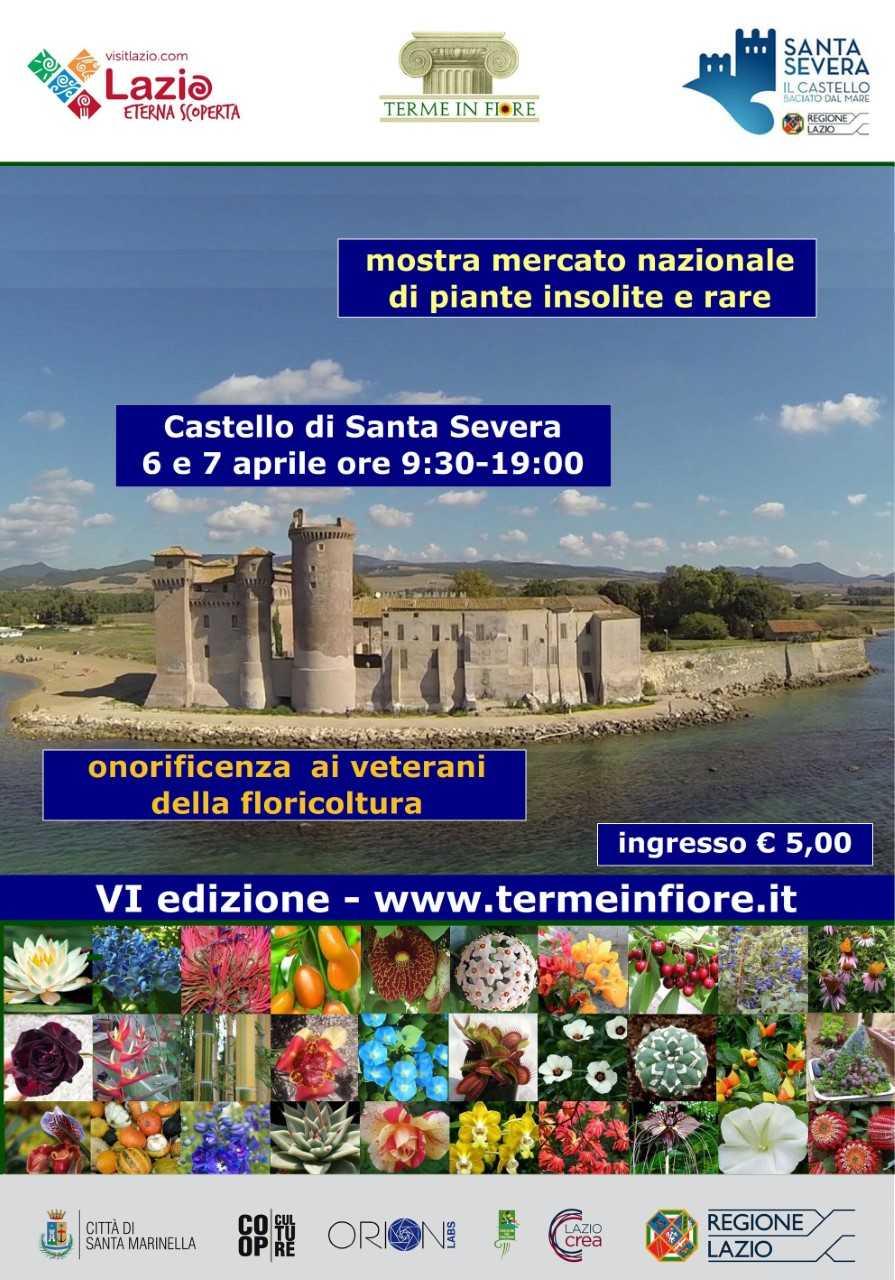 Terme in fiore arriva al castello di Santa Severa. Tutto pronto per la VI edizione