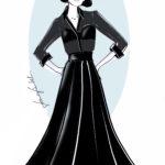 """Rigorosamente """"black couture"""" gli outfit progettati e realizzati su misura dall'atelier Franco Ciambella per Tosca al Festival di Sanremo"""