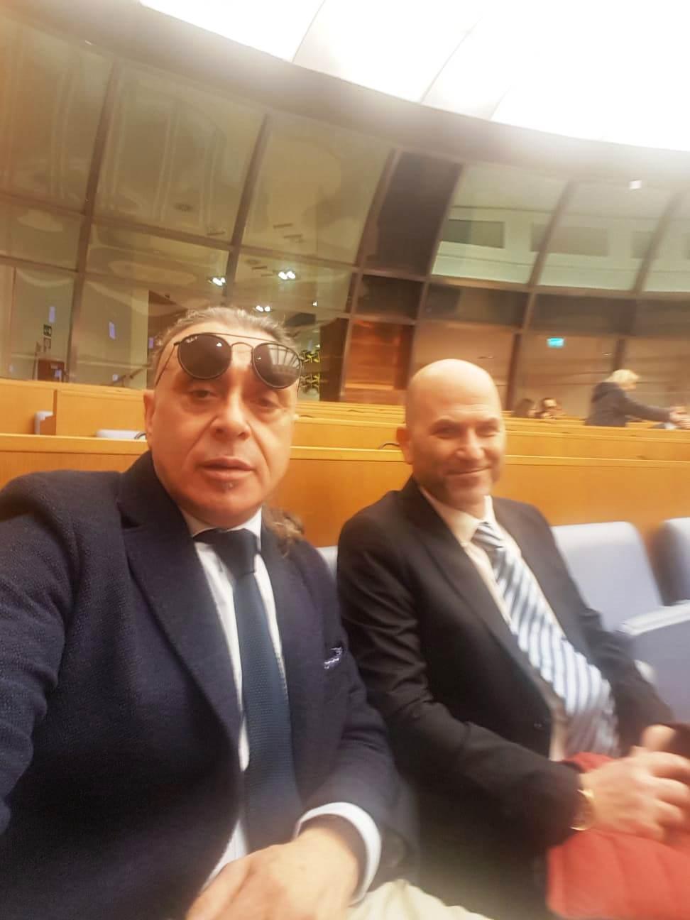 """Senato della Repubblica, 6 febbraio 2020. Convegno """"Elettromagnetismo e avanzamento tecnologico"""".Roberto Angeletti rappresenta Santa Marinella."""