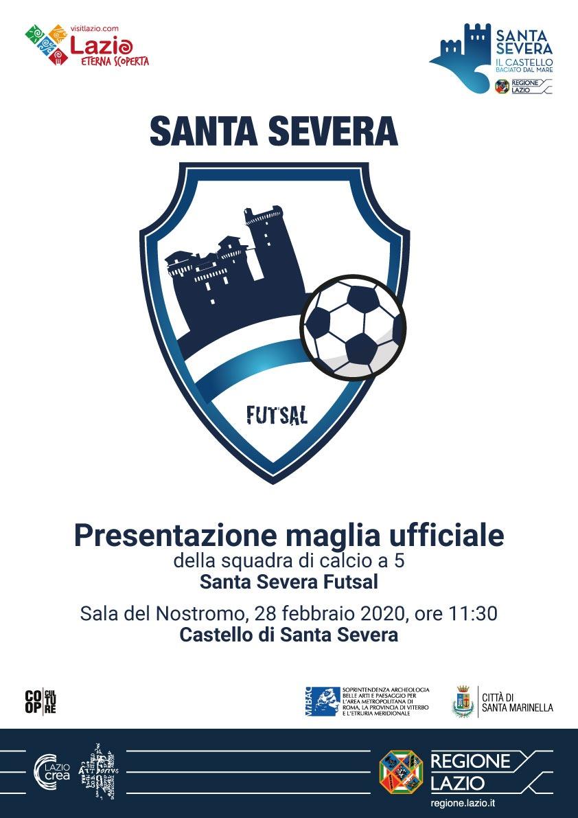 Santa Severa futsal: sulla maglia ufficiale il Castello baciato dal mare.