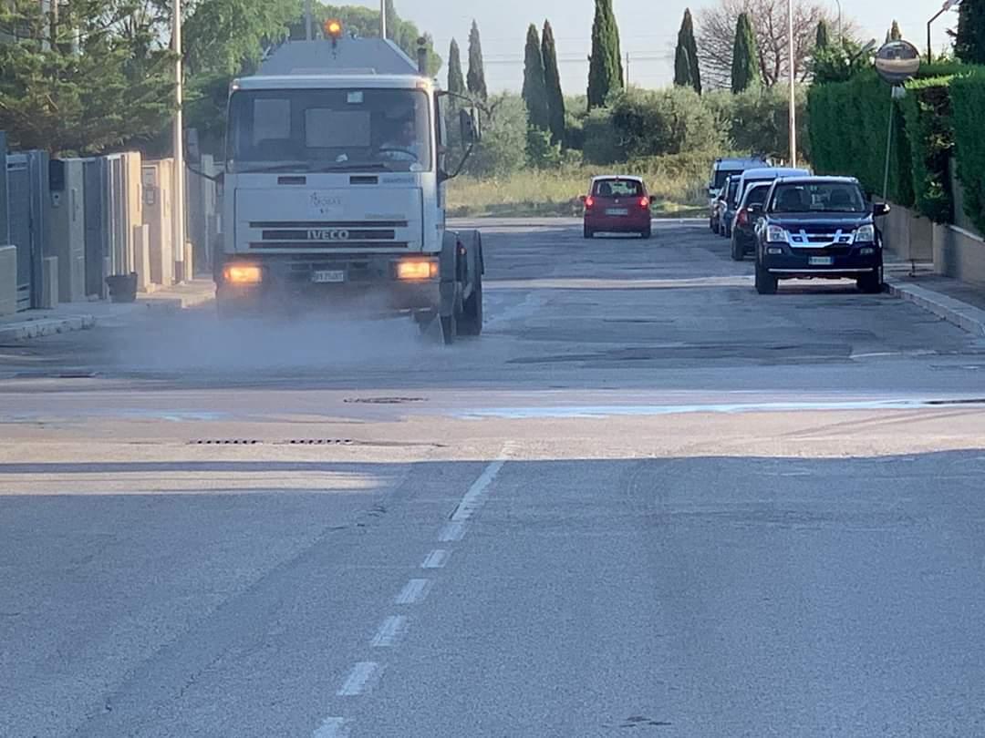 SoS Cov19 Vice Sindaco Bianchi annuncia: da domani strade igienizzate