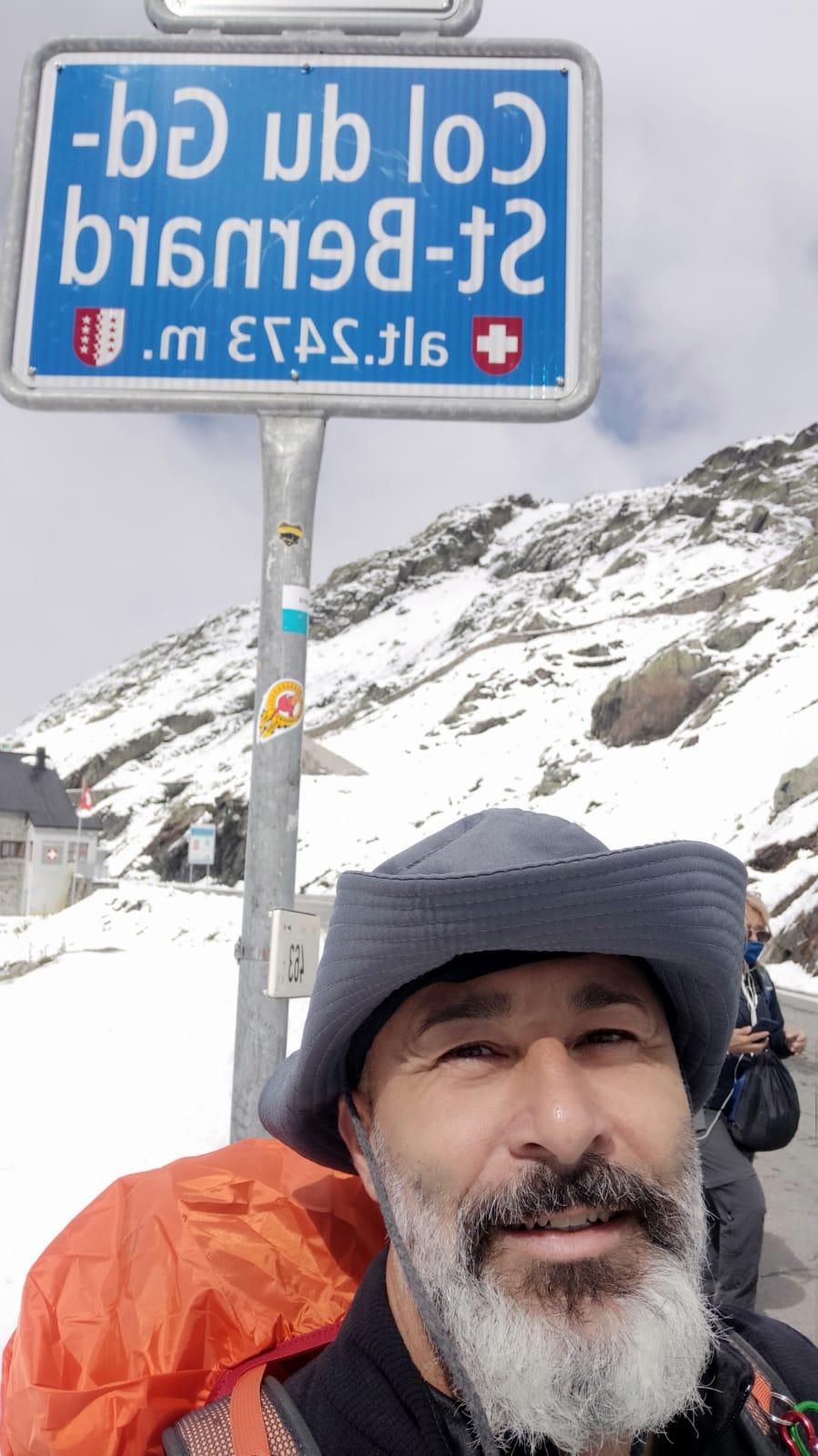 Alessandro Martini, il santamarinellese diventato pellegrino sulla Via Francigena